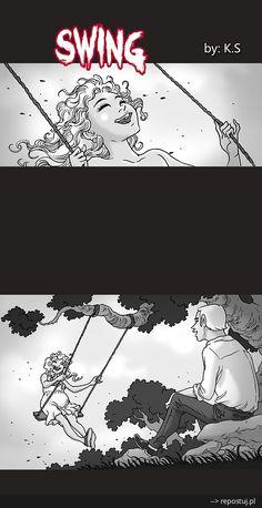 #Komiks #mysilenthorror #Huśtawka