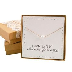Pearl necklace - Gold color - Bridesmaids gift idea - Give a detail to those who will be the witnesses of your love. The perfect and elegant gift for a bridesmaids. - $14.99