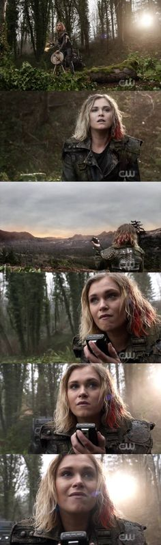 Can we just take a moment to appreciate Clarke's hair and oh my god.