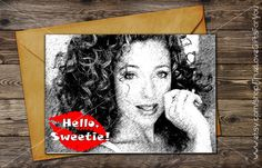 DOCTOR WHO Valentine's Card / Hello, Sweetie! / River Song quote // Printable greeting card / Last minute Gift //