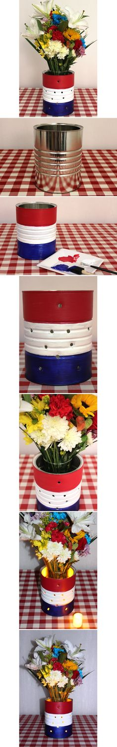 #DIY 4th of July Vase for Your Flowers!