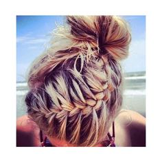 60 So Attractive and Easy Hair knot Styles Tutorials Fashion 2016 ❤ liked on Polyvore featuring beauty products, haircare, hair styling tools, hair and hair styles