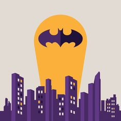 Flat Batman Art Print on Society6 by Ann Van Haeken, via Behance