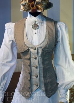 NO link-- great idea for a vest refashion...if the vest is too small, add another underneath it.