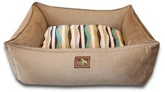 Luca Lounge Dog Bed - A dog bed for a small or large dog with washable sheets. Buy an extra sheet for a new look!