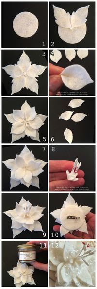 Wool Felt Poinsettia Pin by Catherine Scanlon on the Sizzix blog!