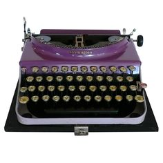 Art Deco Original 1927 Purple Remington Typewriter  United States