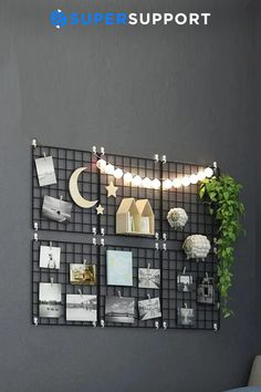 Grille Photo, Porte Photo Mural, Dyi, Charlotte, Photo Wall, School, Frame, Home Decor, Space