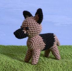 AmiDogs German Shepherd amigurumi dog