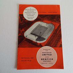 Vintage 1966 Manchester United Versus Benfica (Portugal) Football Soccer Programme European Cup by VintageBlackCatz on Etsy