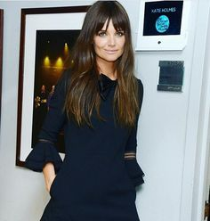 Katie Holmes hairstyle with bangs