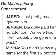 On Misha Collins Joining Supernatural ~Supernatural