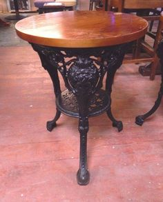 CAST IRON BASE STAND TABLE WITH GREY GRANITE TABLE TOP / BISTRO / BAR /  GARDEN | Browsers Emporium | Pinterest | Granite Table Top, Granite Table  And ...