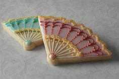 Marie Antoinette Fan Cookies for a Marie Antoinette themed party.