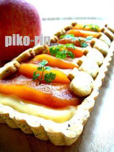 「りんご&カスタード on 紅茶タルト」piko | お菓子・パンのレシピや作り方【corecle*コレクル】