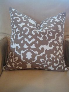 love the pattern, maybe in blue to go with the  brown and flower pillow
