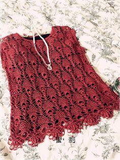 Lace Pineapple Stitch Tunic free crochet graph pattern