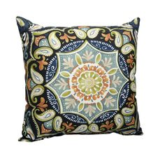 Hampton Bay Sky Medallion Square Outdoor Throw Pillow 7055-04229511 at The Home Depot - Mobile