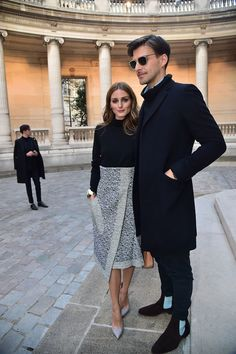 Stylish couple Olivia Palermo & Johannes Huebl | 2015 Paris Fashion Week