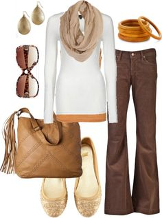 Cream, brown & mustard...oh yes to Fall!! ♥