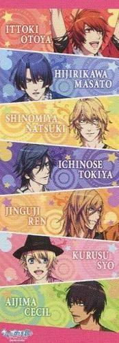 Uta no Prince sama Purinsu poster official Japan Ittoki Otoya  , Hijirikawa Masato  , Shinomiya Natsuki  , Ichinose Tokiya , Jinguuji Ren , Kurusu Syo , Aijima Cecil