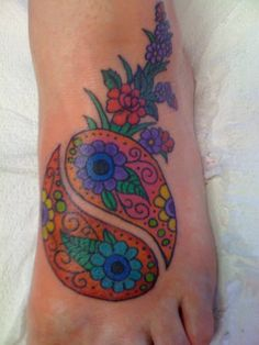 ying and yang tattoos | category flower tattoos foot tattoos symbol tattoos yin yang tattoos ...