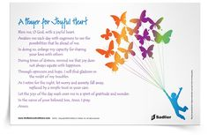 Download Prayer for Joyful Heart prayer cards and use it with your family or class.