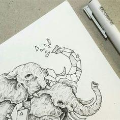 Geometric Beasts | Elephants