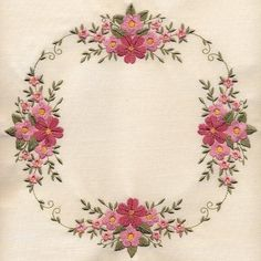 """8x8 Inch Floral Quilt 1"" These beautiful, #machineembroidery quilt blocks come together to create a wonderful quilt! Get started on your next heirloom quilt today!"