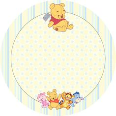 Winnie the Pooh Baby: Free Printable Cupcake Toppers and Wrappers. Winnie Pooh Baby, Winne The Pooh, Winnie The Pooh Birthday, Baby Shower Clipart, Baby Shower Templates, Pooh Bebe, Teddy Pictures, Baby Boy Cards, Baby Shower Invitaciones