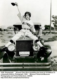 1919 Clara Bow and Moon Roadster made in St. Louis MO