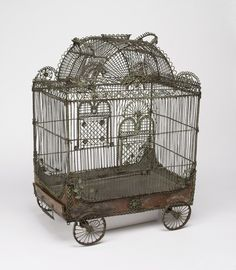 "fleaingfrance: "" FleaingFrance…..18th c French wire cage via vintagehomeca: "" (via Pinterest) "" """