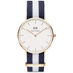 Daniel Wellington Classic Glasgow Watch, 36mm ($175) ❤ liked on Polyvore featuring jewelry, watches, accessories and daniel wellington