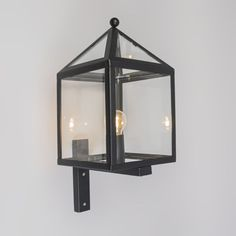Outdoor Wall Lamp Amsterdam 1 Black