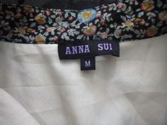 Fake Anna Sui label in dress