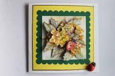 +Carte 3D Anniversaire Fleurs et Coccinelles r3D severinecreations57.fr recherche google