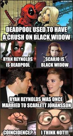 So this is funny but the Black Widow Deadpool had a crush on wasn't Natasha...