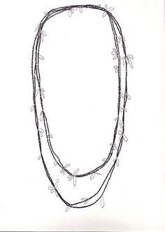 Alison Macleod's Jewellery Design Sketchbook   Rudi Necklace