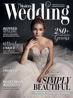 Decadent and sparkly - love seeing our very own Kenneth Winston Style 1562 on the cover of @modernwedding's Issue 67.