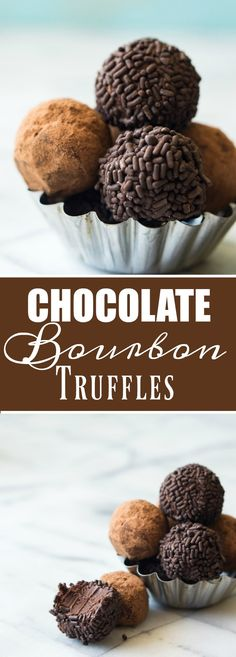 Chocolate Bourbon Truffles