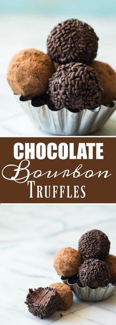 Chocolate Bourbon Truffles