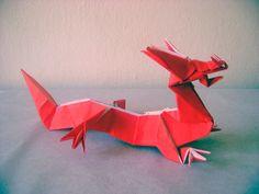 Eastern Dragon by Jun Maekawa, one square, no cuts, no glue