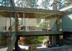 One last Vancouver house by Arthur Erickson. The house was built for and is still owned by the painterGordon Smith and his partner Marion. They have carefully maintained it over the years, in keeping with Erickson's original design and intention. There's an interesting article in Vancouver Magazine about the difference between their informed maintenance and the slow degradation of Erickson's nearby Graham House, which was demolished in 2007.