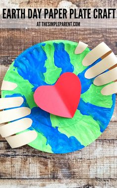 Earth Make an Earth Day craft preschoolers will love! - Make an Earth Day craft preschoolers will love! Get some paper plates, paint, and construction paper to help your kids learn about caring for our planet! Earth Craft, Earth Day Crafts, World Crafts, Earth Day Activities, Craft Activities, Therapy Activities, Preschool Crafts, Kids Crafts, Spring Crafts For Preschoolers