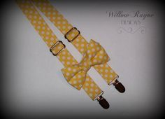 Yellow Bow tie and SuspendersPolka Dot Boys by WillowRayneDesigns, $32.95