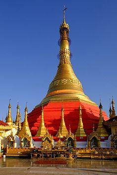 Kyaik Than Lan pagoda, Mawlamyine (Moulmein), Myanmar (Burma), Asia