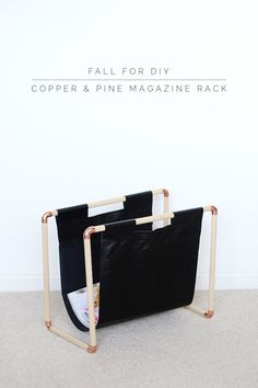How To: Copper & Pine Magazine Rack