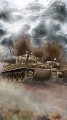 Girls und Panzer Anime Kuro Mori Mine Tiger I und der Königstiger Military Diorama, Military Art, Navy Special Forces, Tank Wallpaper, Joker Images, Military Drawings, Tiger Ii, War Thunder, Ww2 Tanks