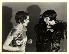 Louise Brooks with Jean Arthur in 1929's The Canary Murder Case