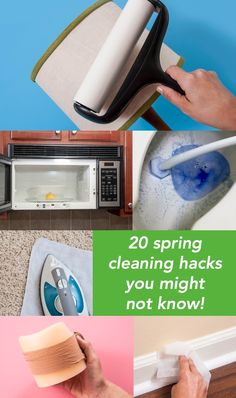 Are you familiar with all of these cleaning hacks? They are quick fixes any time you want to spiff up your place quickly. Because who has time for cleaning?